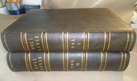 【补图 2】1859年HOLY BIBLE《神圣经典》古钢版画插图本 全摩洛哥羊皮2巨册全 天量珍贵古蚀刻版画  品相绝佳