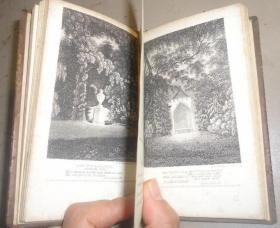 1804年- WILLIAM COWPER -The Park 插图本考柏诗选《小园幽境》全树纹小牛皮善本 小开本 多张精美铜版画插图