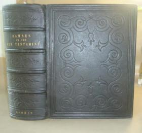 1852年HOLY BIBLE - New Testament 圣经《新约全书》评注本 全摩洛哥羊皮巨册 配补插图  品佳