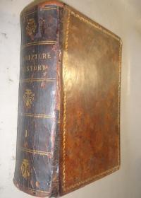 1851年 Scripture Plates for Old Testament 神圣经典 之《旧约全书铜版画辑》全树纹小牛皮豪华精装 珍贵古董书