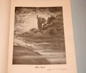 【补图2】1914年Gustave Dore_BIBLE IN PICTURES《多雷圣经版画全集》3/4真皮精装 211桢多雷木刻版画插图 开本超大 品相上佳