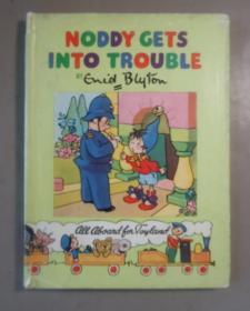 1949年 Enid Blyton -  Noddy Gets into Trouble 著名童话人物诺迪系列《小诺迪麻烦了》极珍贵初版本 珂罗版套色插图