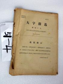 北京大学大字报选 增刊17