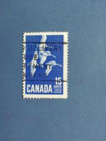 外国邮票 加拿大邮票 1963年 鸟类·黑额黑雁  (信销票)