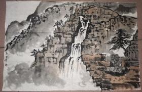 永曾绘 水墨山水     44.5×66.6厘米