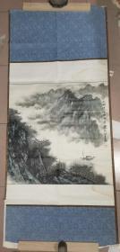 """山水名家 郭儒石   绘 """"江峡行舟""""     【裱片 画心68×68厘米】"""