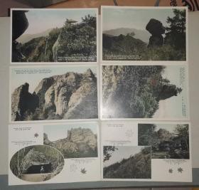 明治大正时期  六张  彩色版明信片: 濑户内海   国立公园