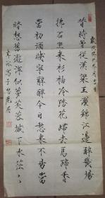 韦冰 瘦金体 楷书 唐诗 瑞鹧鸪     35×69.4厘米