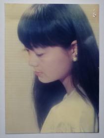 彩色照片:沉思美女(12*18cm)