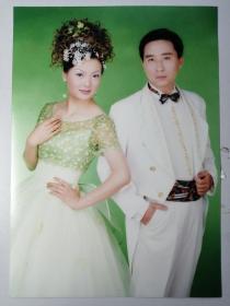 彩色照片:结婚 合影(12*18cm)+底片