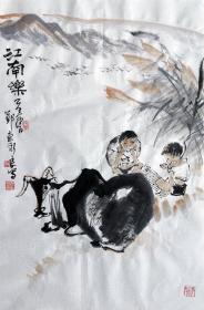 吴永良(江南乐)人物小中堂 手绘国画作品