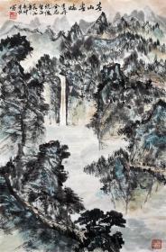 朱恒 山水小中堂 手绘国画作品收藏(春山春晓)