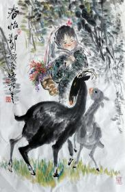 吴永良(春怡)人物小中堂 手绘国画作品