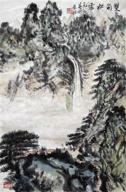 朱恒 山水小中堂 手绘国画作品收藏
