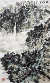 朱恒 山水小中堂 手绘国画作品收藏(雁荡云泉)