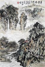 朱恒 山水小中堂 手绘国画作品