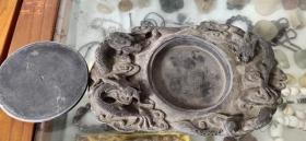 龙纹易水古砚、石质细腻、造型精美
