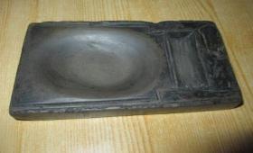 明代老砚台、石质细腻、造型精美、包浆润泽