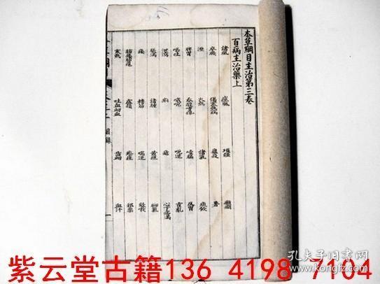 【清】本草纲目(卷3) #1450