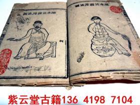 【乾隆】木刻版画;中医骨科穴位图【医宗金鉴】(卷71)#5678