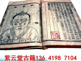 【清】木刻版画;中医骨科穴位图【医宗金鉴】(卷72)#5679