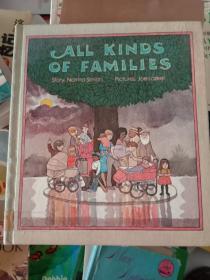 英文原版all kinds of families  各种各样的家庭,彩色版G