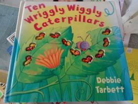 英文原版立体书 ten wriggly wiggly caterp pillars十只毛毛虫爬呀爬