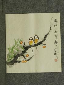 【保真】王成老师国画精美小花鸟  画工精湛 栩栩如生 人见人爱  物美价廉 编号010307