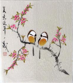 【保真】王成老师国画精美小花鸟  画工精湛 栩栩如生 人见人爱  物美价廉08747