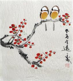 【保真】王成老师国画精美小花鸟  画工精湛 栩栩如生 人见人爱  物美价廉08890