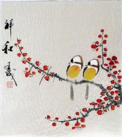 【保真】王成老师国画精美小花鸟  画工精湛 栩栩如生 人见人爱  物美价廉08790