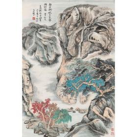 顾振乐 山水图 100×67cm中国画高清微喷复制