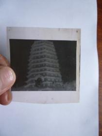 文革时期 宁波 国营公园照相馆纸袋一个(有毛主席语录)(内装老底片11张)