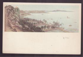 1956年 老画片  太湖之滨 顾坤伯 费新我作