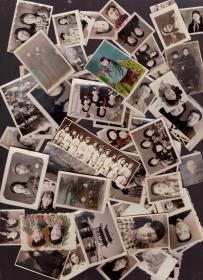 50年代老照片 60余张   有手工上的   来源一家