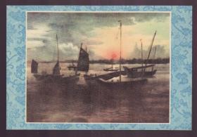 1956年老画片 吴淞口的晚景 伊睿辰作
