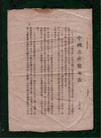 中国共产党年表