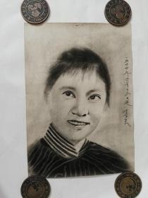 60年代画家为女电影明星绘画原稿(纯手绘,非印刷)