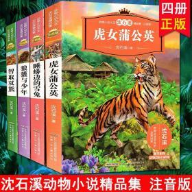 动物小说大王沈石溪精品集(注音版):智取双熊+睡蟒边的雪兔+狼獾与少年+虎女蒲公英(全四册)