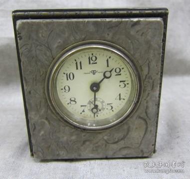 满洲国时期大理石外壳小座钟表