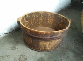 朴素大方的民国木盆子