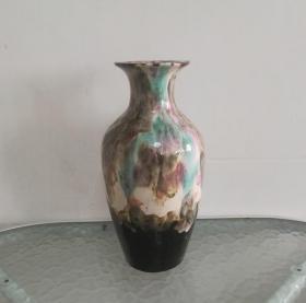 非常漂亮的文革变色釉瓷瓶