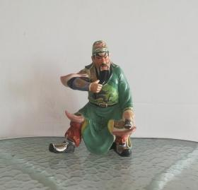 关公*漂亮威武的文革彩瓷塑像