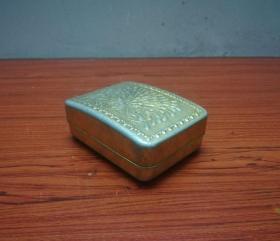 漂亮的文革孔雀纹铝质肥皂盒
