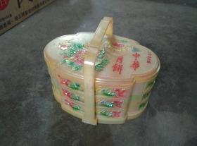 漂亮的龙凤纹塑料月饼提梁盒