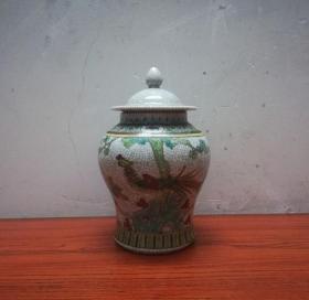 美观漂亮的早期仿明成化瓷将军罐