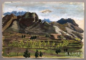 工艺品,七十年代水粉画,保老保手绘,尺寸:27x39cm