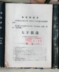 大字报选(毛主席的红卫兵长沙总部编印)