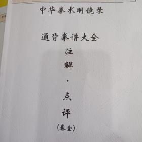 中华拳术明镜录 通背拳谱大全 注解点评 共6卷