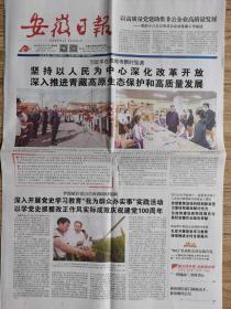 安徽日报【2021年6月10日,在青海考察】